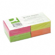 Q-CONNECT Quick Notes Brilliant Rainbow - Quick note - 76 x 76 mm - square - 75 sheets Pack of 12